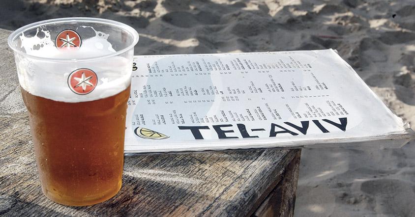 בירה ישראלית בחוף הים